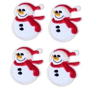 NEW SNOWMAN IRON ON PATCHES APPLIQUES BADGES
